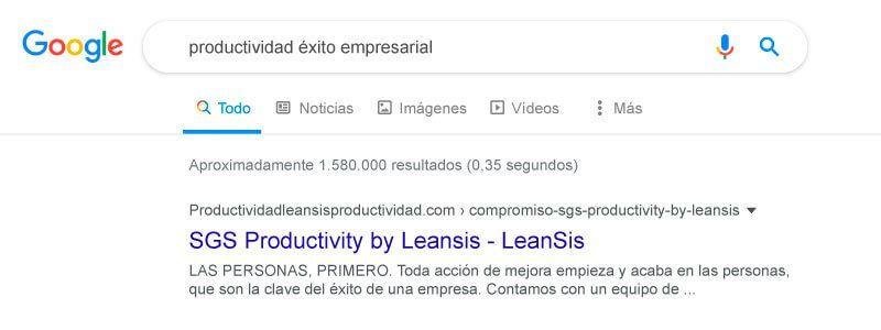 sgs productivity