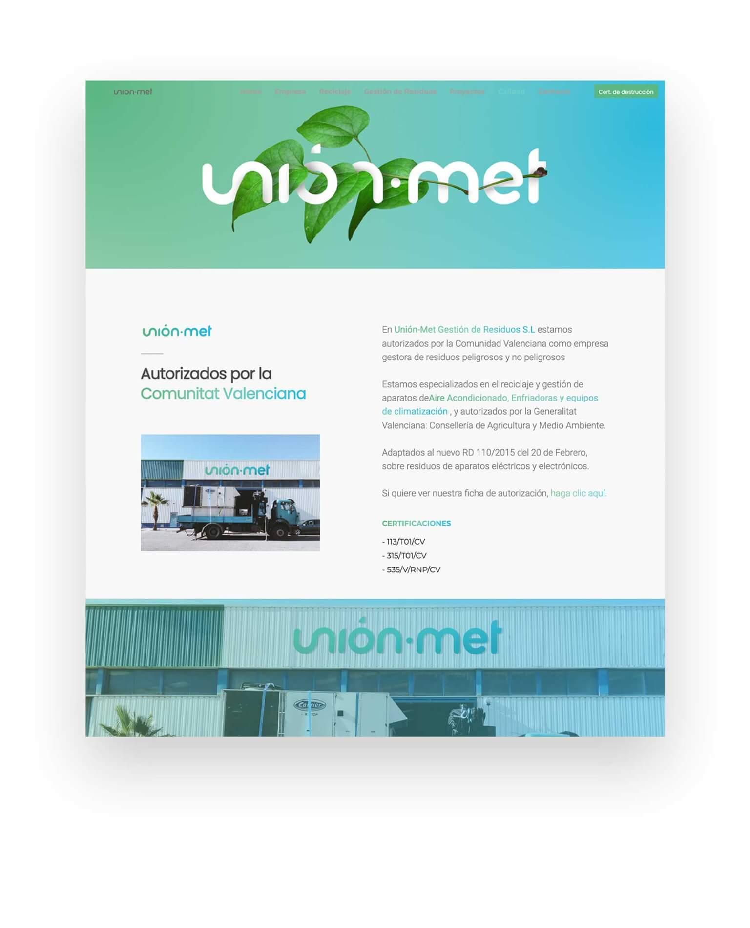 unionmet web